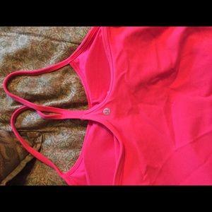 Lulu lemon pink/red power y tank size 10 ladies